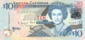 East Caribbean 10 Dollars, (2012)