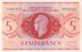 French Equatorial Africa 5 Francs, L.1944