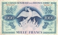 French Equatorial Africa 1000 Francs, ord. 2.12.1941