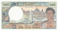 French Pacific Territories 500 Francs, (1992)