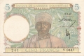 French West Africa 5 Francs,  6. 5.1942
