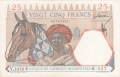 French West Africa 25 Francs, 24. 2.1942