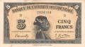 French West Africa 5 Francs, 14.12.1942
