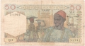 French West Africa 50 Francs,  5.10.1955