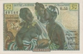 French West Africa 50 Francs, (1956)
