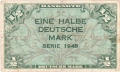 German Federal Republic 1/2 Deutsche Mark, 1948