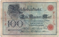 Germany 1 100 Mark, 17. 4.1903