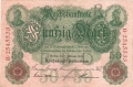 Germany 1 50 Mark,  7. 2.1908
