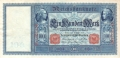 Germany 1 100 Mark, 10. 9.1909
