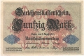 Germany 1 50 Mark,  5. 8.1914
