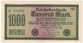 Germany 1 1000 Mark, 15. 9.1922