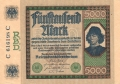 Germany 1 5000 Mark, 16. 9.1922