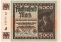 Germany 1 5000 Mark,  2.12.1922