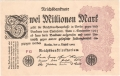 Germany 2 2 million Mark,  9. 8.1923