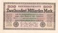 Germany 2 200 Milliarden Mark, 15.10.1923