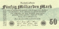Germany 2 50 Milliarden Mark, 26.10.1923