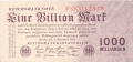 Germany 2 1 Billion Mark,  1.11.1923