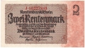 Germany 2 2 Rentenmark, 30. 1.1937