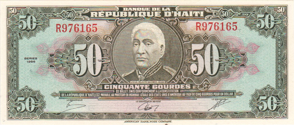 KM#267.A 2000 HAITI 50 GOURDE NOTE UNC