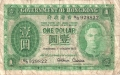 Hong Kong 1 Dollar, 1. 1. 1952