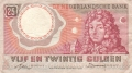 Netherlands 25 Gulden, 10. 4.1955