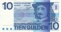 Netherlands 10 Gulden, 25. 4.1968