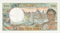 New Caledonia 500 Francs, (1969-92)