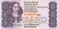 South Africa 5 Rand, (1981-89)