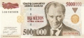 Turkey 5,000,000 Lira, 1997