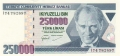 Turkey 250,000 Lira, (1998)