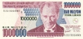 Turkey 1,000,000 Lira, L.1970 (1999)