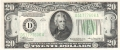 United States Of America 20 Dollars, Series of 1934A
