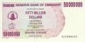 Zimbabwe-1 50 million Dollars,  2. 4.2008