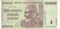 Zimbabwe-1 200 million Dollars, 2008